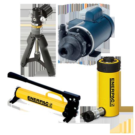 BOMBAS & CILINDROS hidráulicos - neumáticos - prueba - presión - vacío.