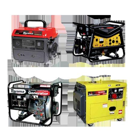 GENERADORES de energía portátiles - estacionarios - gasolina - diesel - interperie.
